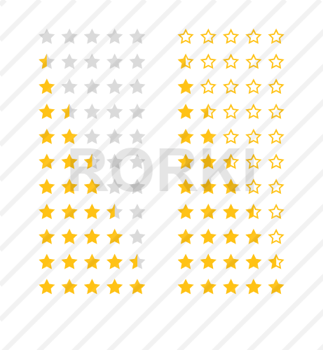 star shape, vector, icon, gold colored, rating, yellow, white background, flat, solid, symbol, bookmark, choice, choosing, rank, sign, voting, five, 5, color, reviews