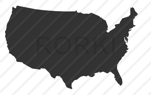 vector map, united, states, america, mainland, usa, cut out, cutout, shape, silhouette