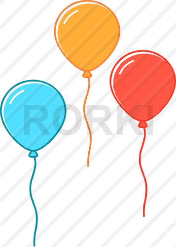 vector balloons, birthday, celebration, event, colors, party, birthday present