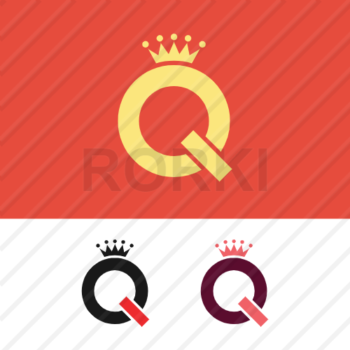 vector letter, queen, crowned, royal
